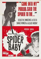 Spider Baby 1967 Lon Chaney Jr., Carol Ohmart  Horror Comedy DVD