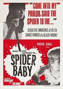 Spider Baby 1967 Lon Chaney Jr., Carol Ohmart  Horror Comedy DVD