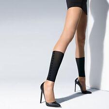 WOLFORD - BOOTY LOVE LEGGINGS- GAITER EFFECT-Sahara/Black - Large -RRP £95  BNIP