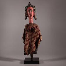 9437 Beaux marionnette Bozo  Mali avec socle en bois