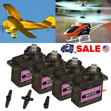 4Pack Metal Gear 9g MG90S Micro Servo Motor High Speed RC Helicopter Car Racing
