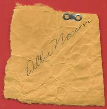 """WILLIE  MOSCONI   HAND  SIGNED  AUTOGRAPHED   3.25 """" X  3.25 """"  CUT   !!"""
