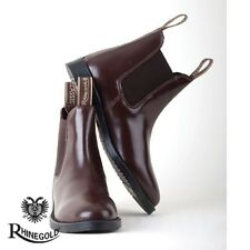 Rhinegold Childrens Classic Leather Jodhpur Boots   Size 5   BROWN   FREE P&P