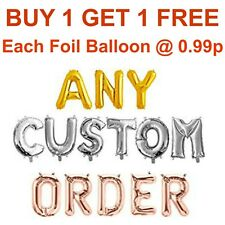 """16"""" Foil Letters Balloons Rose Gold Any Age Custom Name Birthday Wedding Baloons"""