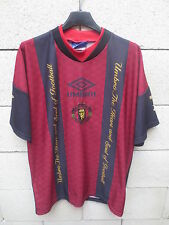 VINTAGE Maillot MANCHESTER UNITED training shirt UMBRO SHARP 90's époque CANTONA