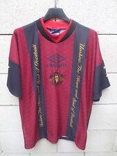 VINTAGE Maillot MANCHESTER UNITED training shirt UMBRO SHARP 90's époque CANTONA