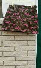 Corduroy mini skirt girls sz.10 Camo Olive/Pink pinwale The Children's Place New