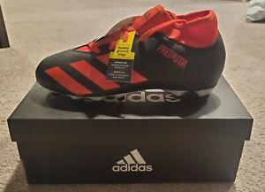 Adidas PREDATOR Soccer 20.4 S FxG J Boys Black/Red EG1843 Cleats Size 5