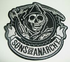 "Sons of Anarchy Grim Reaper Biker Patch~3 1/2"" x 3 1/2""~Iron Sew On~Ships FREE"
