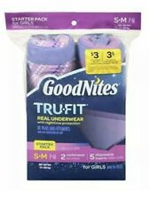 New GoodNites Tru-Fit Real Underwear Nighttime Protection Starter Pack Girls S/M