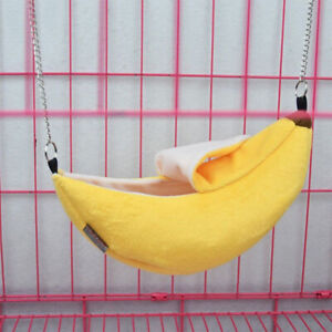 Pet Hammock Rat Small Hamster Parrot Banana Hanging Bed House Swing Cage Toys