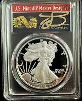 2015 W $1 Proof American Silver Eagle 1oz PCGS PR70DCAM Thomas Cleveland Native