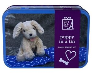Puppy in a Tin  - simple sewing kit . Make and play.