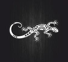 Autocollant sticker voiture moto macbook salamandre lezard gecko tribal tuning B