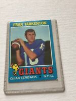 1971 Tops Footbal Card #120 Fran Tarkenton QB New York Giants NFC