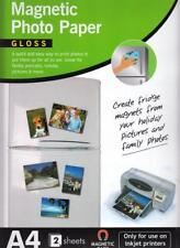 Magnetic Photo Gloss Printer Paper A4 2 Sheets For Use On Inkjet Printers