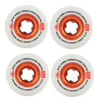 Ricta 56mm Chrome Clouds Red Skateboard Wheels 86a