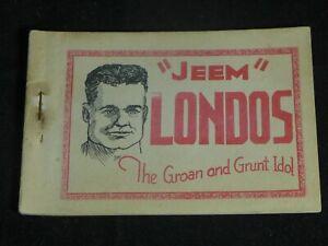 Vintage 1930s Original Tijuana Bible Jeem Londos The Groan and Grunt Idol 10 pgs