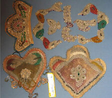 AUTHENTIC OLD NATIVE AMERICAN INDIAN GROUP 2 PILLOWS / FLAP & 5 PCS AD768