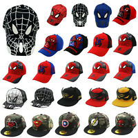 Kids Boys Spider-Man Superhero Baseball Cap Hip-hop Toddler Casual Snapback Hat