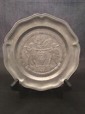 "Vintage Pewter Small Plate Lebensmittelecht Coaster Zierteller Nicht 6.5"""