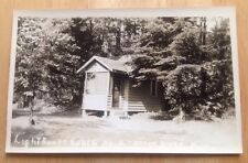 1940s OTTER LAKE, NY, LIGHTHOUSE CABIN NUMBER 2 REAL PHOTO POSTCARD RPPC