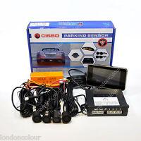 CISBO MATT BLACK CAR REAR REVERSE PARKING SENSORS VOICE LED DISPLAY CANBUS KIT