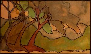 "Carol Sklar Print of a Painting ""Triple Tree"""