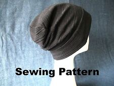 summer, fall, autumn, winter slouchy beanie hat, SEWING PATTERN, PDF FILES