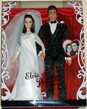 Elvis Presley and Priscilla 2008 Wedding Day Barbie Doll Set - Mint Condition
