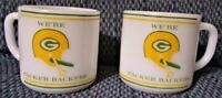 (2) Vintage Packers Coffee Cups by Federal Glass - 8 oz Great Shape Green Bay 2