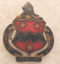"WWII RARE ""NURNBERG LOUER"" MADE 16TH F.A. OLD ENAMEL SCREW BACK"