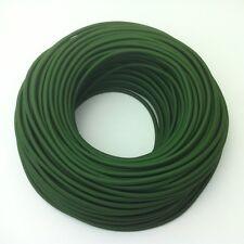 50m Design Textilkabel Stromkabel Stoffkabel Dunkelgrün 3x0,75  Top EU Qualität