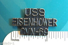 USS   EISENHOWER CVN 69 - hat pin,  lapel pin, tie tac, hatpin