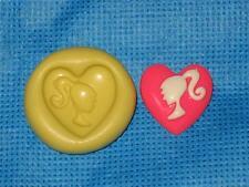Barbie Heart Push Mold Food Safe Silicone #904 Cake Chocolate Resin Clay Fondant