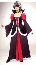 Wicked Queen Renaissance Gothic Black Red Halloween Adult Costume