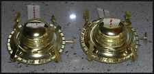 "PAIR(2) #2 Oil Kerosene LAMP BURNERS- Hold 3""Chimney with WICK & Screw-on COLLAR"
