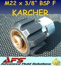 M22 x 3/8 BSP FEMALE KARCHER ADAPTOR PRESSURE WASHER JET WASH HOSE ADAPTER