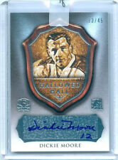 "DICKIE MOORE ""HALLOWED HALL AUTOGRAPH CARD #13/45"" LEAF ENSHRINED 2016"