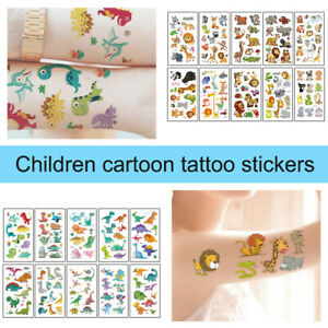 10 Sheet Temporary Tattoos Fake Tattoo Stickers Decal For Kids Boys Girls