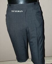 Charcoal Grey Gray Black Vintage Edwardian Tuxedo pants Very Nice 30 29 28