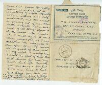 INDIA SEAC 1945.4 AMLC pmk `289` FPO cds to Reading  ex 8th Belfast HAH Regt RA