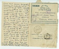 INDIA SEAC 1945.4 AMLC pmk `289` FPO cds to Reading  ex 8th Belfast HAH Regt RA