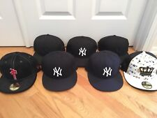 Pre-owned 5 New York Yankees New Era Hats 7 3/8 + 2 Misc.
