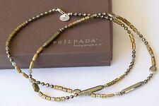 Silpada Brass Labradorite Sterling Silver Bead Long Necklace Retired N3104
