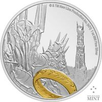 2021 Niue $2 Lord of the Rings Sauron 1 oz .999 Silver Proof Coin - 3,000 Made