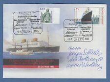 Deutschland 2005 Dampfer Bremen Sonder-Ganzsache mit So.-O SCHLESWIG 3.3.05