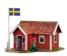 Cardboard model kit. Sweden small house Rodstuga. Scale 1/87 HO.