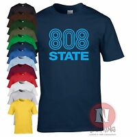 808 State DJ club music dance rave retro T-shirt edm festival Madchester