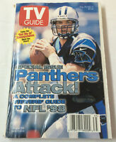 August 29-September 4, 1998 TV Guide ~ CAROLINA PANTHERS regional variant cover